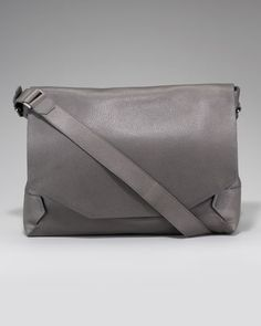 Grained Leather Messenger Bag by Lanvin at Neiman Marcus.