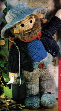 AUSTRALIaN'S FAMOuS 'ONcE a JOLLY SWaGMAN' by Crafting4Ever2013, $3.00  INSTANT DOWNLOAD KNITTING PATTERN Knitted Dolls, Crochet Toys, Teddy Bear Clothes, Glue Crafts, Craft Shop, Fabric Dolls, Stuffed Toys Patterns, Doll Accessories, Doll Toys