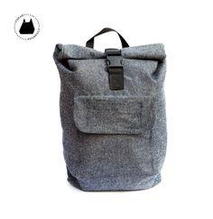 ROLLTOP Backpack (Gray Drill) - Rucksack - Travel Bag - Riding Bag - Men's Bag - Laptop Bag on Etsy, $190.31