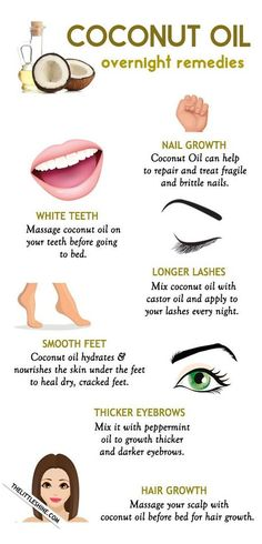 nail care growth coconut oil