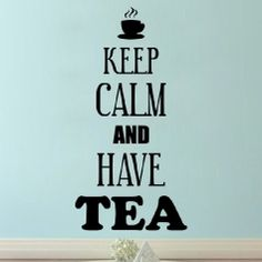 Sticker Keep Calm and Have Tea