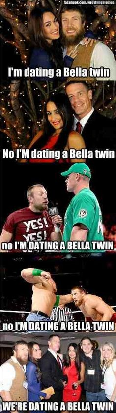 The Bella Twins!! Daniel Bryan and John Cena LOL
