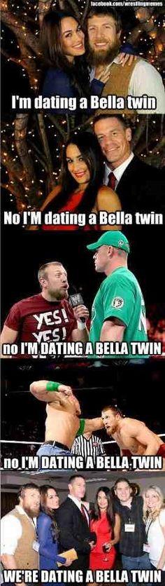 The Bella Twins!! Daniel Bryan and John Cena LOL