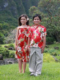 Family Matching Hawaiian Clothing up to 3x in men's shirt.  2x ladies muumuu