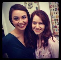 Joanna Sotomura (Emma Woodhouse of Emma Approved) and Ashley Clements (Lizzie Bennet of the Lizzie Bennet Diaries) {I WANT TO SEE THIS IN AN EPISODE.}