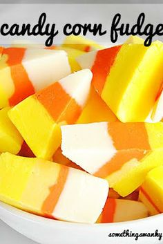 Candy Corn Recipes - Candy Corn Fudge #candycorn #snackgasm #foodporn
