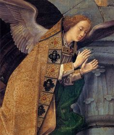 Hugo van der goes portinari triptych central angels above 2 - Category:Portinari Triptych - Wikimedia Commons
