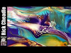 521. Abstract Art. canvas painting. swipe speedpaint fluid art landscape create - YouTube