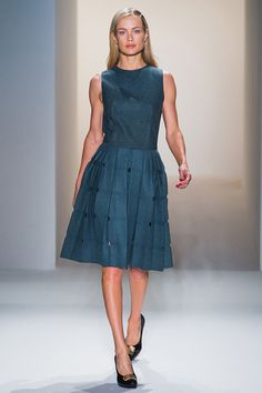 I need some gorgeously simple wool day dresses, like this one at Calvin Klein. Click for more pics.