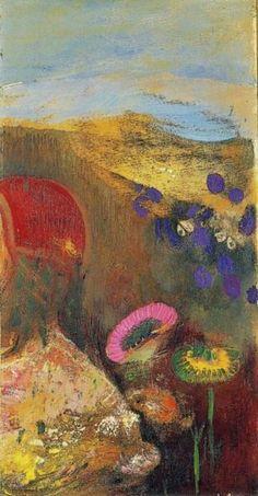 Odilon Redon Strange flowers (Fleurs étranges), 1910