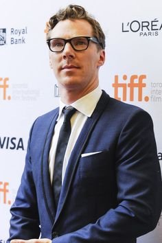 """deareje: """" new tab for high res. Benedict Cumberbatch attends the The Imitation Game premiere call during the 2014 Toronto International Film Festival on September 9, 2014 in Toronto, Canada. """" Love..."""