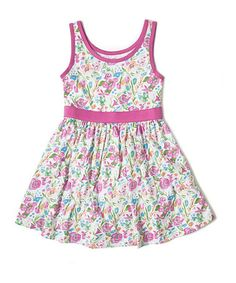 Another great find on #zulily! White & Pink Jenny Organic Dress - Toddler & Girls by Soft Clothing #zulilyfinds