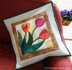 Looking for your next project? You're going to love Tulip Pillow by designer Kameleonquilt. - via @Craftsy