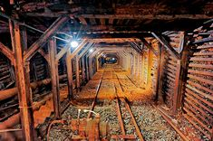 Down the shaft at the Empire Mine