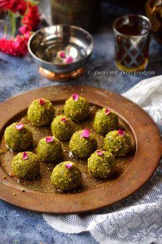 Mafroukeh Truffles – Savory&SweetFood Arabic Dessert, Arabic Sweets, Arabic Food, Ramadan Sweets, Fancy Desserts, Gourmet Desserts, Plated Desserts, Indian Dessert Recipes, Sweets Recipes