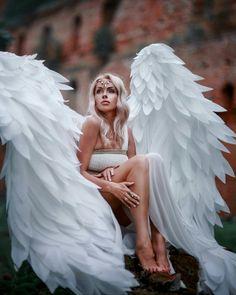 Real Angels, Angels Among Us, Angels In Heaven, Angels And Demons, Heavenly Angels, Fantasy Images, Fantasy Art, Victoria Secret Wings, Angel Artwork