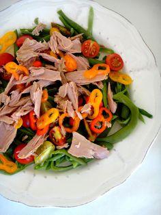 Salada de feijão verde e atum