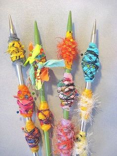 alma stoller - messy yet colourful fabric beads - i think i would tighten these up a lot