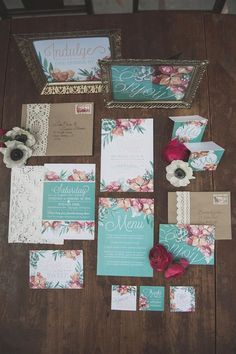Sweet Floral Wedding Stationery // Photography ~  Ally Kristensen