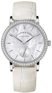 Best luxury watches for women no. 3. A. Lange and Sohne Saxonia Mother-Of-Pearl and Diamond Watch. You expect two things from an A. Lange and Sohne timepiece: technical perfection and pure elegance. Their Saxonia line delivers both.