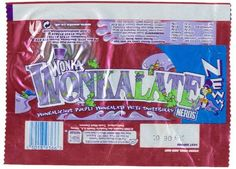 Wonkalate:  Raspberry flavoured, purple chocolate heaven!!    Discontinued by Nestle :(