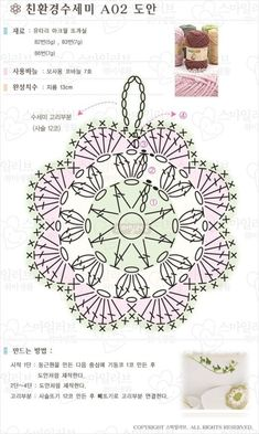 Crochet Potholder Patterns, Crochet Mandala Pattern, Crochet Circles, Crochet Flower Patterns, Crochet Diagram, Crochet Doilies, Crochet Flowers, Crochet Lace, Crochet Stitches