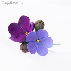 Tanya Flower: Шпильки с фиалками.