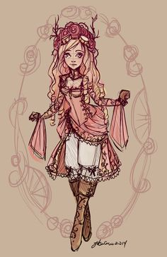 Briar+Rose+Sketch+by+NoFlutter.deviantart.com+on+@DeviantArt