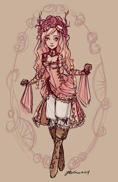 Briar+Rose+Sketch+by+NoFlutter.deviantart.com+on+@DeviantArt