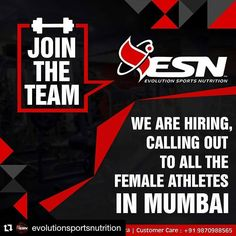 #Repost @evolutionsportsnutrition (@get_repost)  Female Athletes from Mumbai kindly drop in your profile on shweta.sakharkar@esninternational.com / arjun.kapoor@esninternational.com  #teamesn #defyyourlimits #fitness #health #healthy #supplements #bodybuilding #lifestyle #fitspo #motivation #protein #carbs #muscle #mass #india #mumbai #delhi