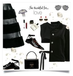 """""""total black 💓"""" by tato-eleni ❤ liked on Polyvore featuring Givenchy, Comme des Garçons, Dolce&Gabbana, Chanel and Lalique"""