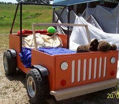 Cool Jeep Twin Bed OR Sandbox Sand Box by OzarkgoldWoodPlans