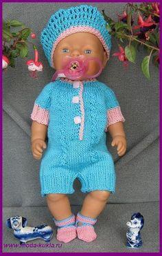 Вяжем комбинезон и платье на BABY BORN из толстых ниток