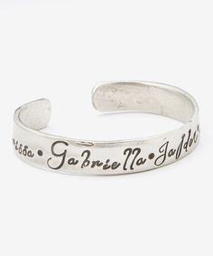 Look at this Bliss Stamped Jewelry Silver Wide Personalized Cuff on #zulily today!