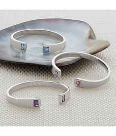 Unique Jewelry Gift Ideas for Her - gorgeous sterling silver birthstone cuff