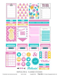 Planner sticker printables