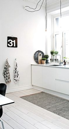 Via NordicDays.nl | White Alvhem Home | Kitchen | Black and White