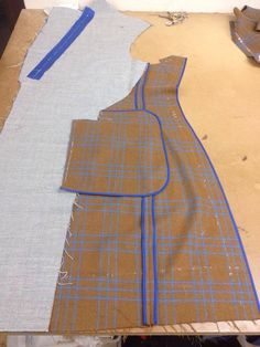 Unlined jacket in production at SRTA
