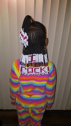 This Hairstylist Creates Elaborate Beads-and-Braids Looks to Help Young Girls Embrace Their Curls and Kinks - # loose Braids for kids # loose Braids for kids Little Girl Braids, Black Girl Braids, Braids For Kids, Girls Braids, Kids Braids With Beads, Toddler Braids, Box Braids Hairstyles, Kids Braided Hairstyles, Hairstyle Ideas