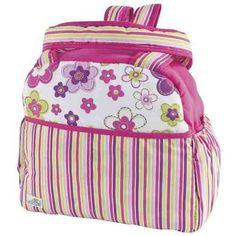 amplias pañaleras para bebe bolsa o back pack flores niña