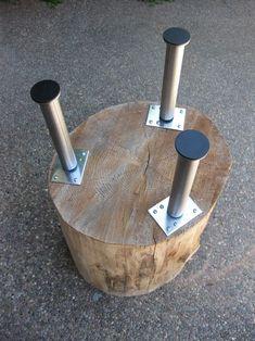 DIY // Tree Stump Table - K Sarah Designs Make my stumps taller