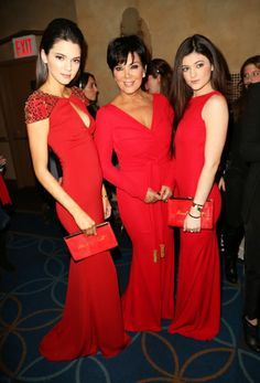 Kendall, Kylie and Kris Jenner attend The Heart Truth's Red Dress event in NYC.