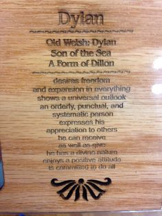 Personalized first name meaning gift first name gift boy girl dylans name meaning negle Gallery