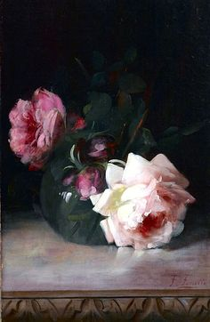 Frederick Fenetti  Still Life with Roses  Late 18th- early 19th century