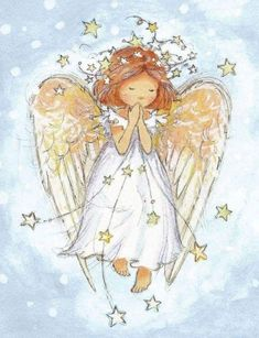 Angelic charity card in aid of Childline Christmas Paintings, Angel Cards, Fairy Angel, Angel Pictures, Drawings, Christmas Watercolor, Painting, Angel Drawing, Angel Painting