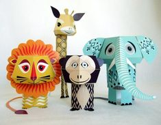 Mibo's Adorable Printable Paper Animals - My Modern Metropolis    http://www.mibo.co.uk/