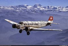 """The Junkers Ju 52 designed by Ernst Zindel and manufactured by Junkers, nicknamed as Tante Ju (""""Aunt Ju"""") and Iron Annie is a German tri-motor aircraft used for transporting both civilian and military troops during the and ~ BFD Passenger Aircraft, Ww2 Aircraft, Military Aircraft, Luftwaffe, Cargo Transport, Where Eagles Dare, Swiss Air, Ww2 Planes, Civil Aviation"""
