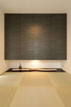 Japanese Modern House, Japanese Home Design, Bedroom Minimalist, Minimalist Home Interior, Asian Interior, Japanese Interior, Modern Home Offices, Concrete Houses, Minimal Home
