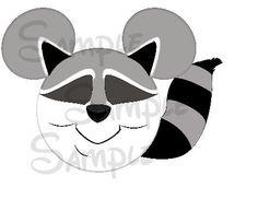 Meeko Raccoon character inspired printable personalized Mickey head digital file DIY on Etsy, $3.00