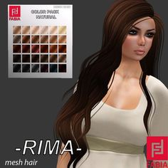 -FABIA- Mesh Hair  <Rima> Natural Tones PROMO